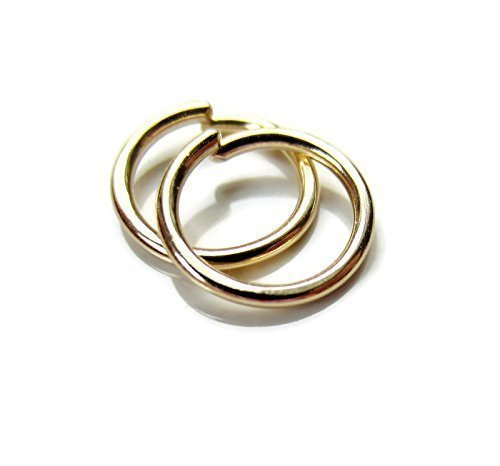 14K Solid Gold Small Hoop Earrings Ear Lobe Cartilage Small 20G 8mm Handmade One Pair by DesignedbyGrace