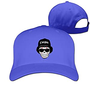 Unisex LunaCpt Skull Wearing Hats And Sunglasses Cap RoyalBlue One Size