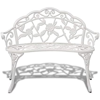 Beau Daonanba Elegant Style Garden Bench White Cast Aluminum Patio Bench  Beautiful Outdoor Decoration