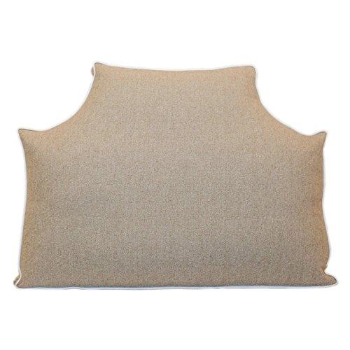 (LeighDeux Headboard Pillow - Linen, Twin)