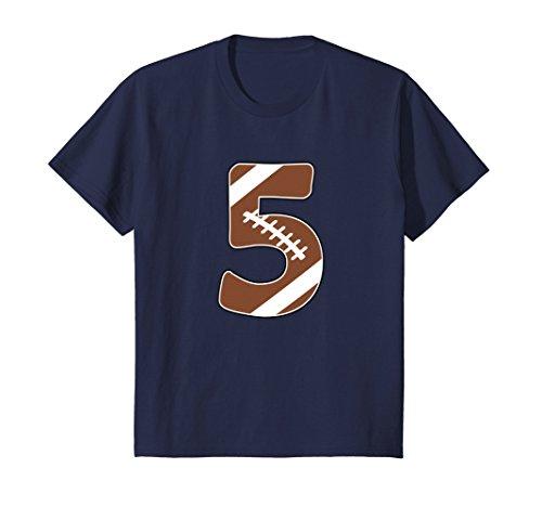 Price comparison product image Kids 5th Birthday Football Shirt - 5 years old Kid Football Shirt 6 Navy