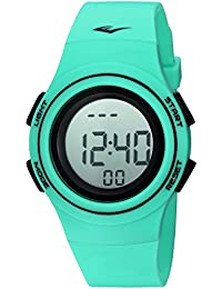 'Heart Rate Monitor' Automatic Plastic and Rubber Fitness Watch, Color:Green (Model: EVWHR006TQ)
