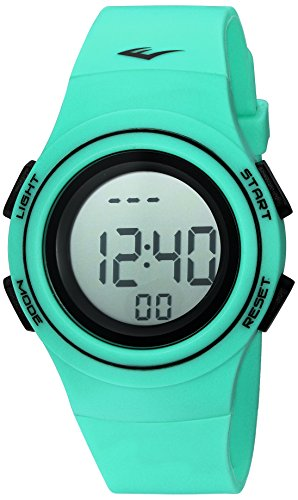 Everlast 'Heart Rate Monitor' Automatic Plastic and Rubber Fitness Watch, Color:Green (Model: EVWHR006TQ)