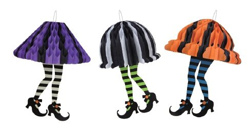 Lannmart Halloween Witches with Feet Socks and Black Boots Awesome Halloween Decor Witches Legs Halloween Party Craft -