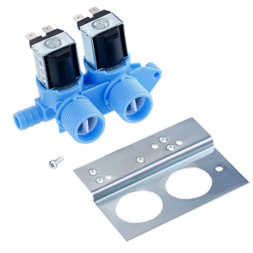 Maxdot 1 Piece 285805 Water Inlet Valve with Mounting Bracket for Clothes Washer 110 VAC/ 120 VAC, Works with Whirlpool, Maytag, Alliance, GE, Kenmore, Amana, Admiral and More by Maxdot (Image #4)
