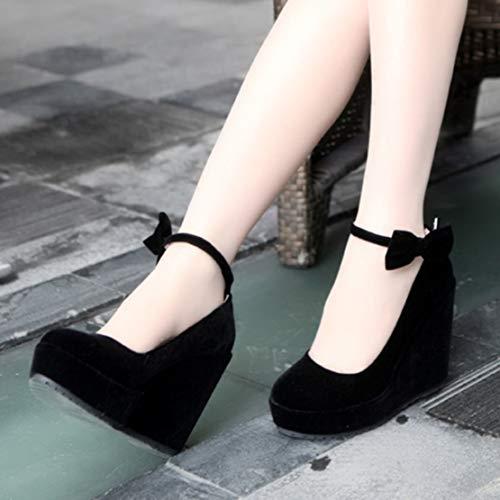 Black Woman Velvet Aiyoumei Ankle Low wfUPxnAXq