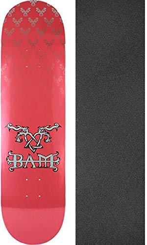 Margera Decks Skateboard Bam (Element Skateboards Bam Margera Heartagram Bam Pink/Silver Skateboard Deck - 8.5