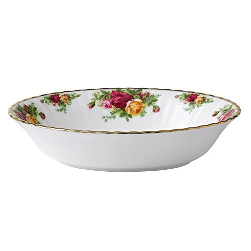 Serving Bowl Pink Roses - Royal Albert Old Country Roses Open Vegetable Dish