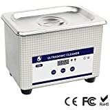 Skymen Professional Ultrasonic Cleaner Digital Timer 800ml Jewelry Cleaning Machine for Cleaning Eyeglasses Dentures
