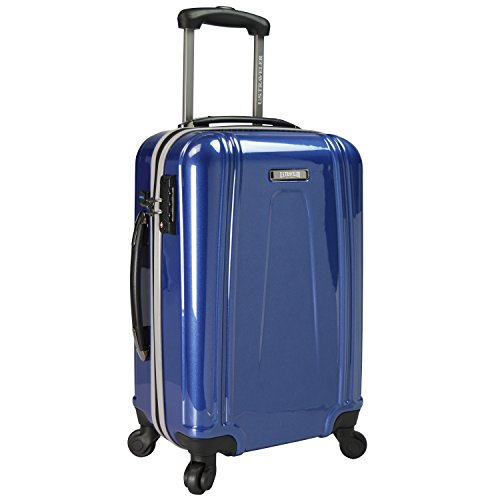 U.S. Traveler 22 Inch USB Port Ez-Charge Carry-on Spinner Suitcase, Navy, One Size