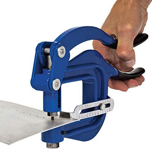 Eastwood Deep Metal Hand Punch Throat Portable Sheet Rivet Hole Auto Body Tool Adjustable Work Stop