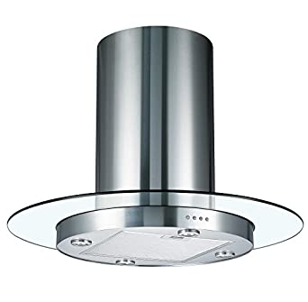 Cookology Tub900gl 90cm Round Glass Amp Stainless Steel