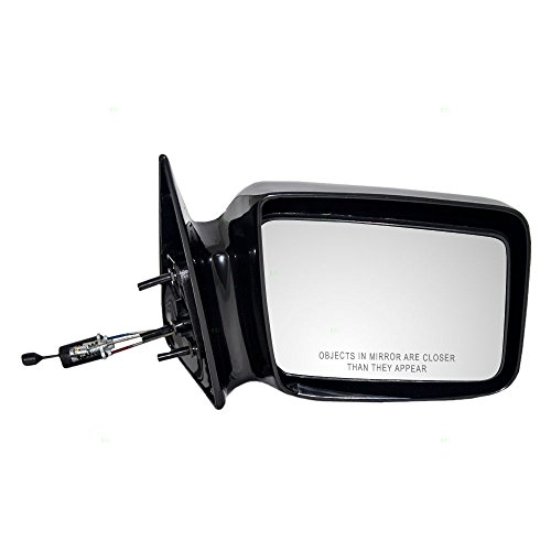 Passengers Manual Remote Side View Mirror Gloss Replacement for Dodge Pickup Truck 55025868