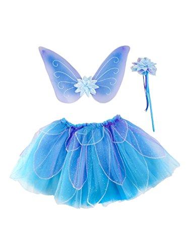 Great Pretenders Girl's Fancy Flutter Skirt, Wings and Wa...