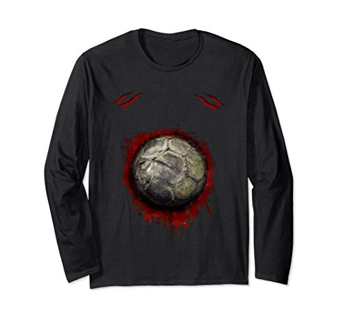 Zombie Soccer Player T-shirt Halloween funny for men women -