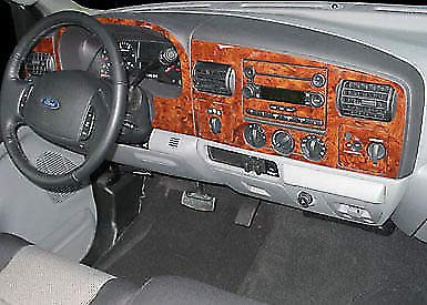 - Ford F-250 F-350 F250 F350 2005 2006 2007 INTERIOR BURL WOOD DASH TRIM KIT SET