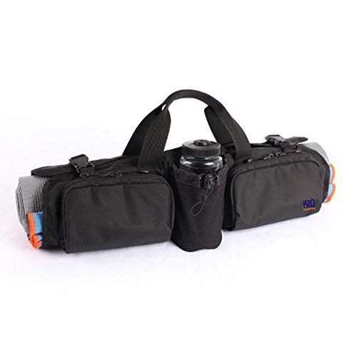 PRO YogaMatBag Water Resistant Yoga Mat Bag with Large Pockets, Black