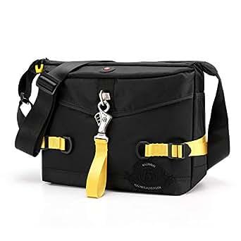 Nylon Men Shoulder Bags (Black)