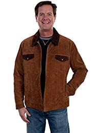 Western Jacket Mens Two Tone Suede Concealed Carry Pocket 623