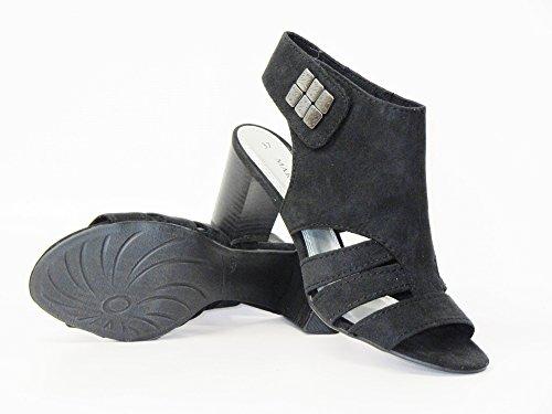 Marco Tozzi 2-28314-24-001 - Sandalias de vestir de tela para mujer Negro negro Black