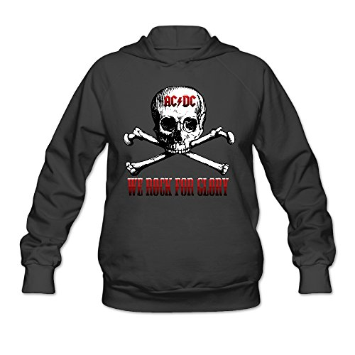 Young Angus Dc Costumes Ac (CYANY AC/DC Australian Rock Heavy Metal Band Skull Women's Trendy Hoodies Sweater)