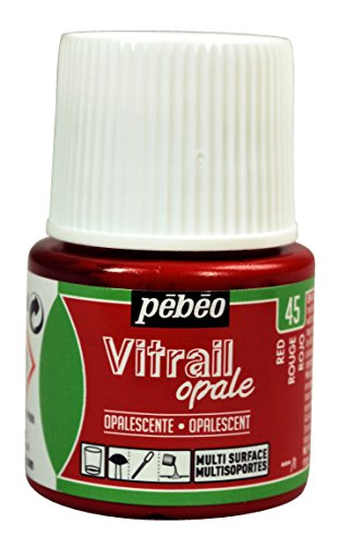 (Pebeo Vitrail, Stained Glass Effect Paint, 45 ml Bottle - Red)