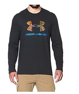 Under Armour Mens UA Camo Fill Long Sleeve T-Shirt Large Black