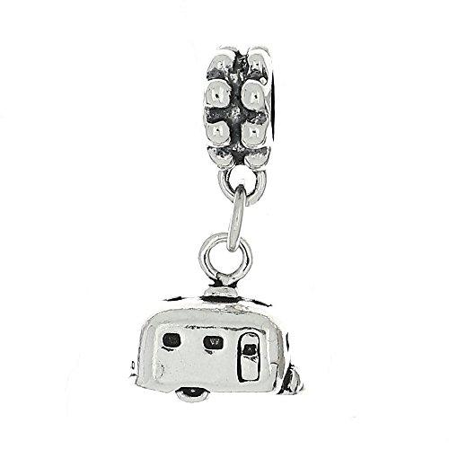 Lgu Sterling Silver Oxidized Retired Talking Dangle Bead Charm