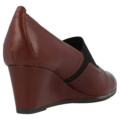 Geox Women's D Chlodia Wedge Court Shoes Brown 5YoQv