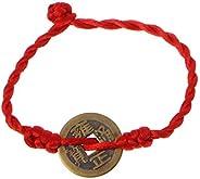 Bracelet, FEIlei Chinese Feng Shui Wealth Lucky Copper Coins Pendant Red String Bracelets