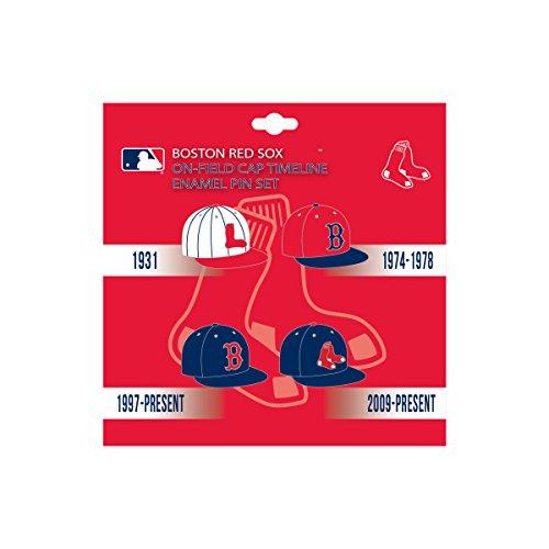 Pro Specialties Group Boston Red Sox MLB On-Field Cap Timeline Enamel Lapel Pin Set (Pins Sox Boston Red)