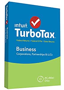 TurboTax Business 2015 Federal + Fed Efile Tax Preparation Software - PCDisc [Old Version]