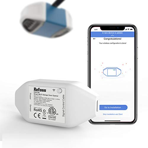 Refoss Smart Wi-Fi Garage Door Opener, APP Control, Compatible with Alexa, Google Assistant and IFTTT, No Hub Needed