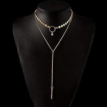 Fashion Women Pendant Crystal Choker Statement Chunky Chain Bib Necklace Jewelry