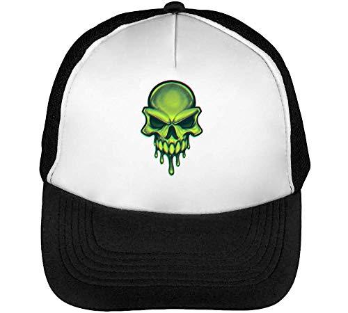 Green Alien Hipster Gorras Hombre Snapback Beisbol Negro Blanco