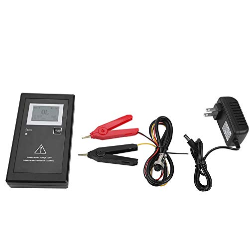 Battery Internal Resistance Voltage Tester,1kHz Rechargeable Battery Voltage Tester Internal Resistance Tester + Test Clips for Secondary Batteries(US)