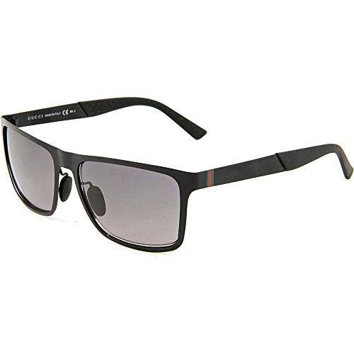 Gucci Men's GG 2238/S Semi Matte Black/Grey - Gucci Sunglasses Manufacturer