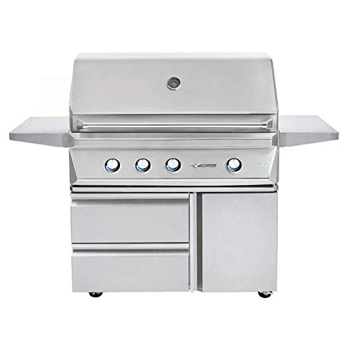 Twin Eagles TEBQ42R-CL 42-Inch Propane Gas Grill On Cart With Infrared Rotisserie