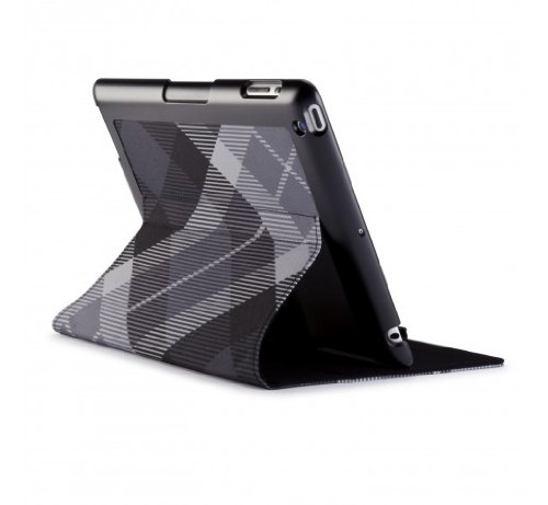 Speck Products FitFolio Protective Cover for iPad 3 4 - MegaPlaid Black (SPK-A1190)
