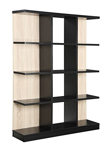 Convenience Concepts Key West 4-Tier Bookcase, Weathered White and Black