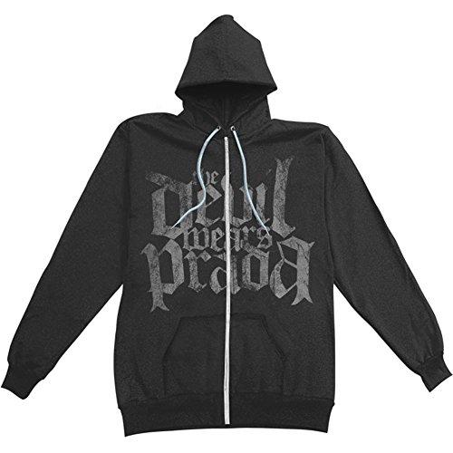 Devil Wears Prada Boys' Logo Zippered Hooded Sweatshirt Youth Large (Devil Kids Hoodie)