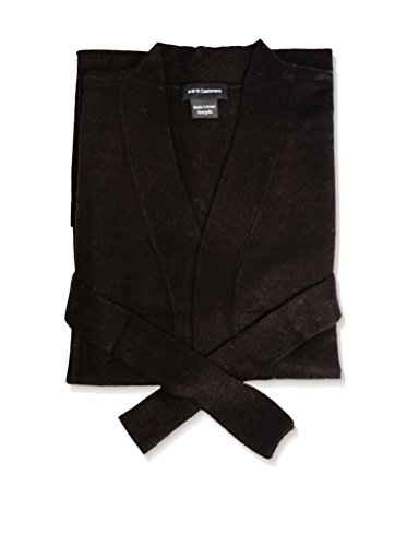a & R Cashmere BW106BLK Cashmere & Wool Robe, One Size, Black