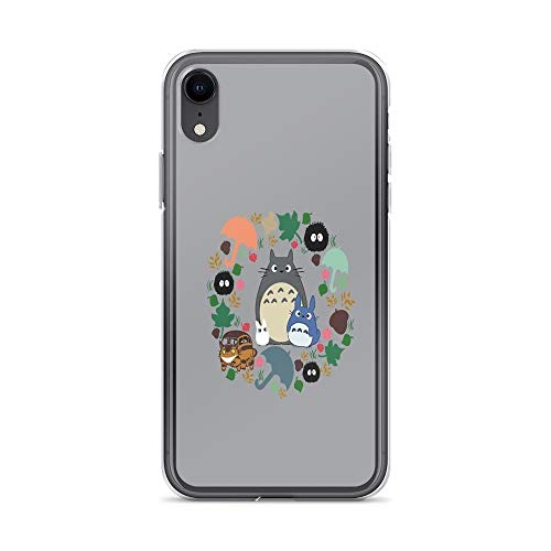 (iPhone XR Case Clear Anti-Scratch My Neighbor Totoro Wreath - Anime, Catbus, Soot Sprite, Blue Totoro, White Totoro, Mustard Cover Phone Cases for iPhone XR, Crystal Clear)