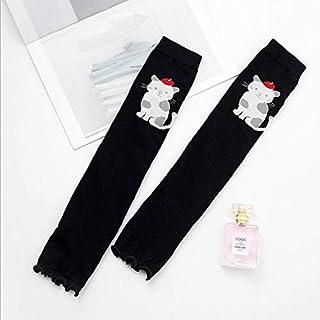 Scaldacollo per le donne La primavera e l'estate calzini sottili per i bambini calzettoni per i cartoni animati gamba sportiva calda imposta calzini anti-UV anti-zanzara anti-zanzara (Colore: Nero, Di