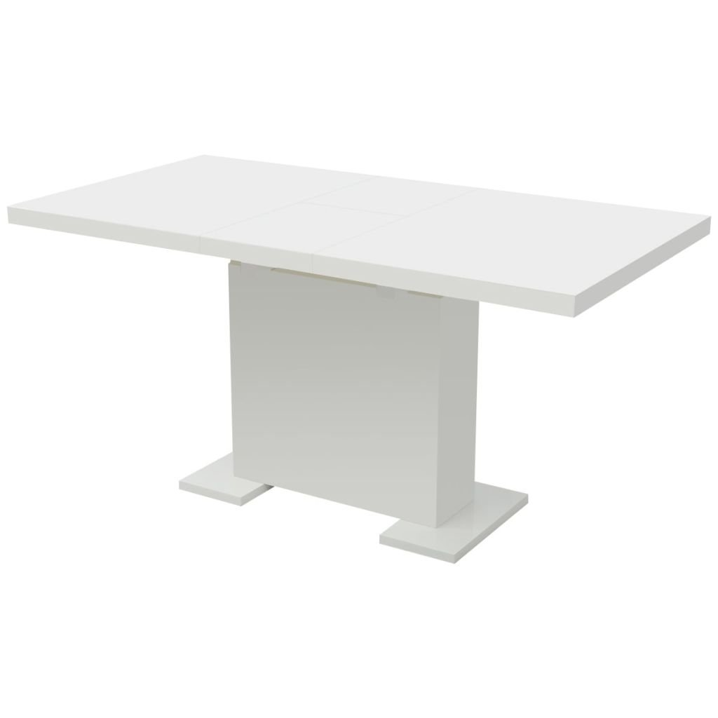 Vidaxl Extendable Dining Table High Gloss White Buy Online In Cook Islands Vidaxl Products In Cook Islands See Prices Reviews And Free Delivery Over Nz 100 Desertcart