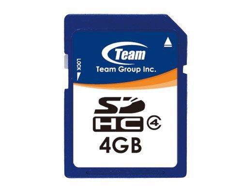 Carte mé moire SD 4 Go pour Nikon Digital SLR D5000 Team Group