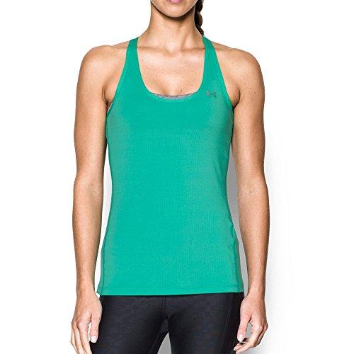 Absinthe Womens Shirt - Under Armour Women's HeatGear Armour Racer Tank, Absinthe Green/Metallic Silver, Small