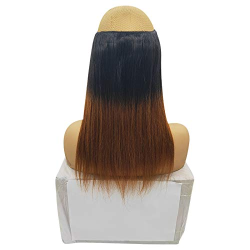 BetrueU Black to Blonde Ombre Easy Wear Halo Extensions