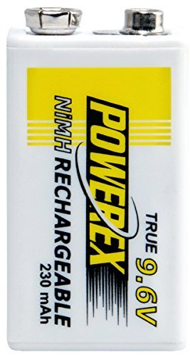 Maha Powerex MH-96V230 9.6V 230mAh Rechargeable NiMH Battery - 4 pack -