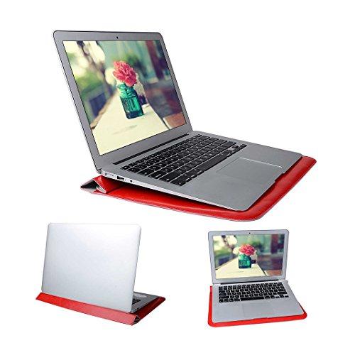 Bolso de Cartera Para Macbook, Asnlove Microsoft Surface Pro 3/4 Funda 12 Pulgadas Potátil Sleeve Bag Maletín de PU Cuero Carpeta para MacBook Air Loptop / Acer Aspire Switch 11 V 11.6 Tablet con Card Color-4